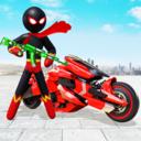 火柴人摩托车超级英雄